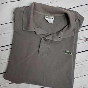 Lacoste mens polo size 5 gray